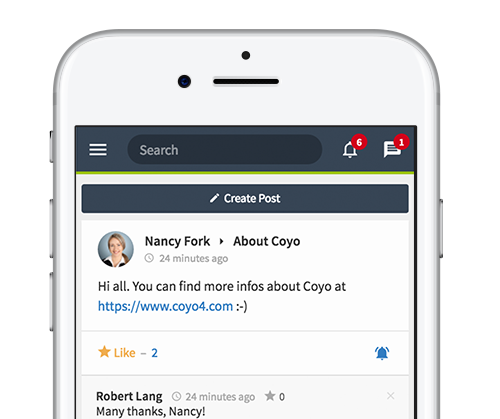 All content, features and colleagues right in your hands